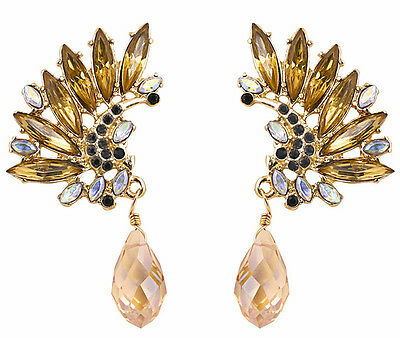 Hot Fashion Charm Resin Wings Leaf  Water Drop Peandant Statement Stud Earring