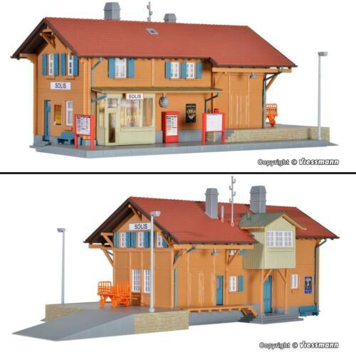 Modellbau H0 1:87 Bausatz BAHNHOF NEU OVP Kibri Faller Lokschuppen Güterschuppen