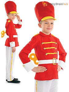 Boys toy soldier nutcracker costume christmas fancy dress costume image is loading boys toy soldier nutcracker costume christmas fancy dress solutioingenieria Choice Image