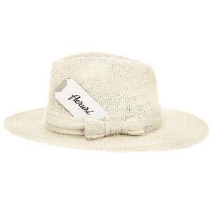 Khaki Vintage Women s Floppy Wide Brim Straw Fedora Hat Summer Sun ... d7757cef5f3f