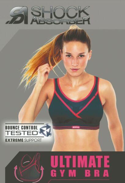 Shock Absorber Ultimate Gym Sport BH ohne Bügel für das Fitnessstudio schwarz