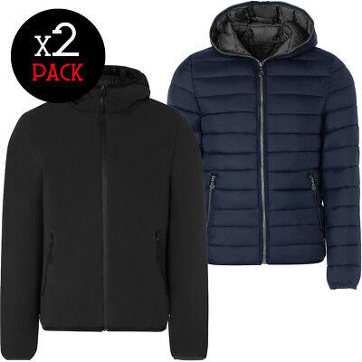 Coppia piumini uomo TWIG L301/L303 + P200G cappotto giubbino giacca cappuccio