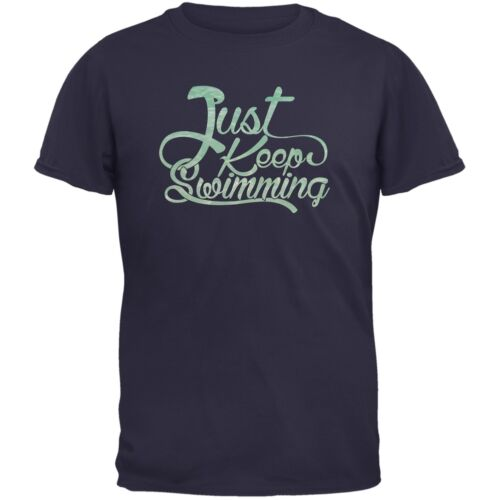 Just Keep Swimming Navy Adult T-Shirt