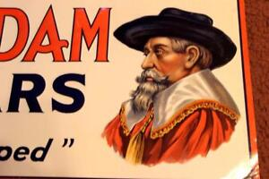 Old-Vintage-Van-Dam-Cigars-tobacco-tin-sign-look-at-my-porcelain-neon-auction