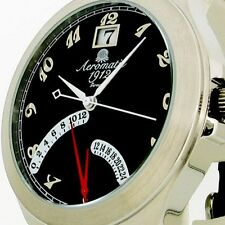 FLY-BACK RETROGRADE GMT (2nd Time Zone)DATE Unisex A1246
