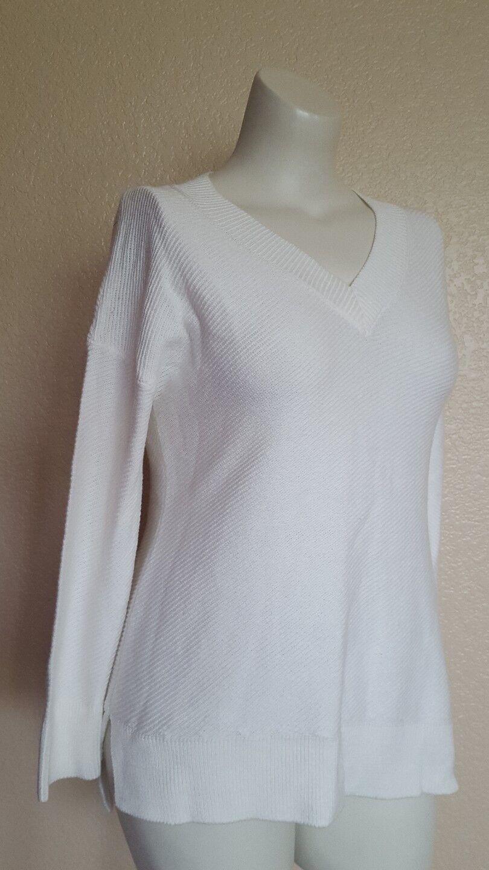 SOFT SURROUNDINGS Olivia Sweater Tunic Acrylic Cotton Cloud White Petite PS New