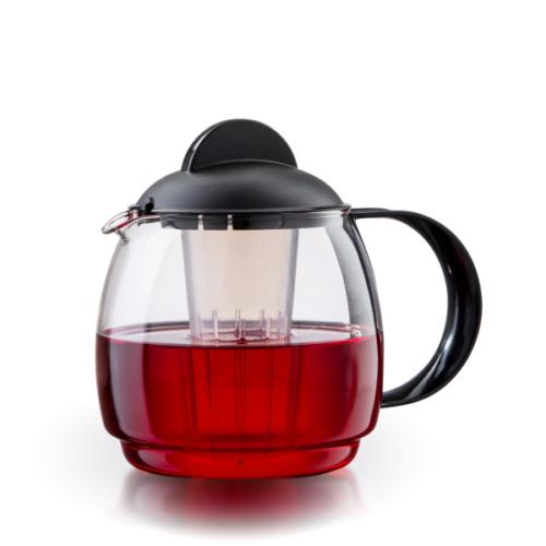 Glas Teekanne Mikrowellenkanne 1,8L mit Teesieb