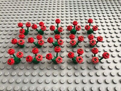 New x 15 Lego Flowers x 45 And Stems x 15 3741 24866 White City Friends Town