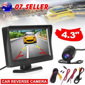 Car-Rear-View-Kit-4-3-034-TFT-LCD-Monitor-170-HD-Reverse-Camera-Day-Night-Vision