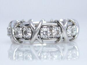 abb7d9669 TIFFANY & CO. JEAN SCHLUMBERGER 16 STONE DIAMOND RING PLATINUM SIZE ...