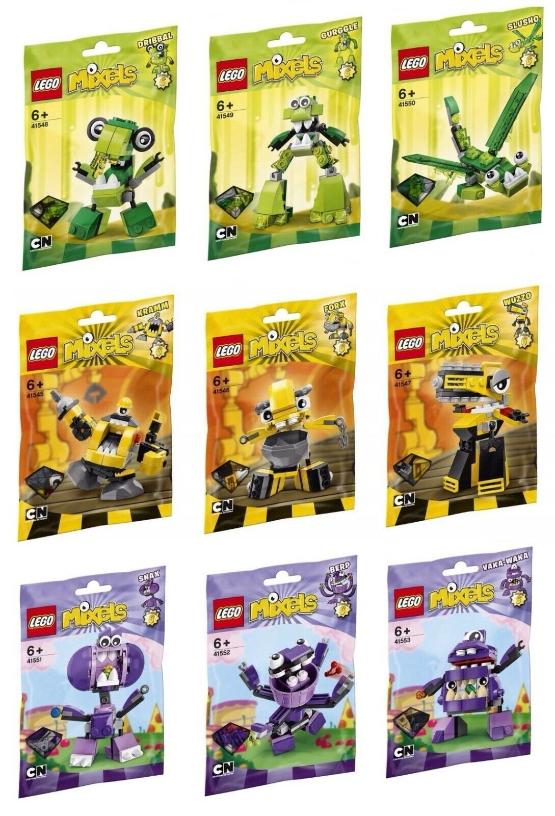 Lego Mixels series 6 Complete and New . All 9 sets.