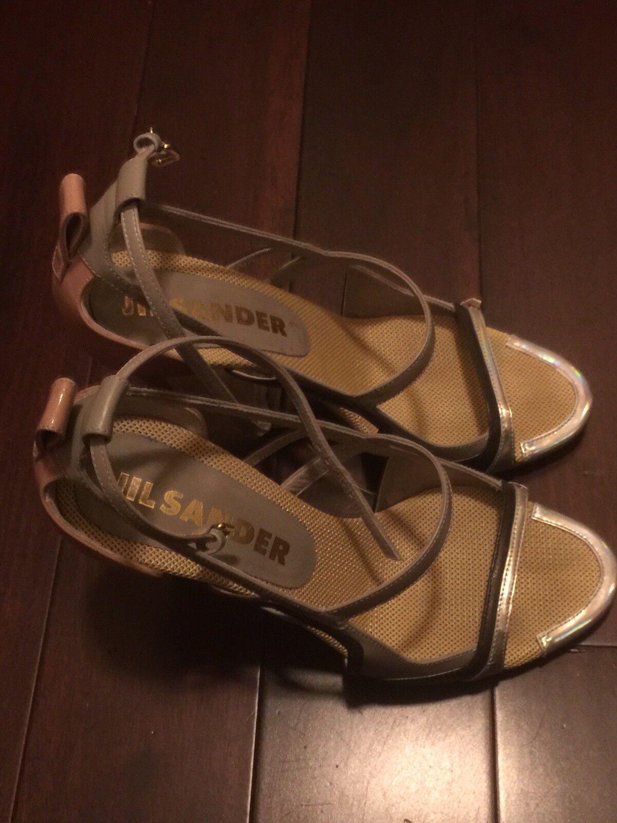 Jill Sander Sander Sander MultiCouleur Strappy Sandals 4b2190