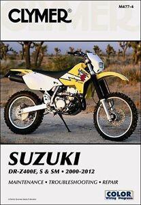 Clymer-Manual-M477-4-Suzuki-DRZ400-DRZ400E-DRZ400S-DRZ400SM-2000-2012