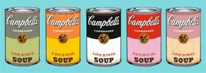 CUADRO Pop Art estilo Warhol Campbell's Alta resolución acabado de Galería NUEVO