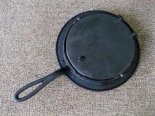 Antique Waffle Maker Primitive Cast Iron #7 & 8, Heart Squares & Diamonds Design