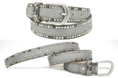 Cintura Borchie Vera Pelle Retro PU Borchie Cintura Jeans Cintura guaine 03