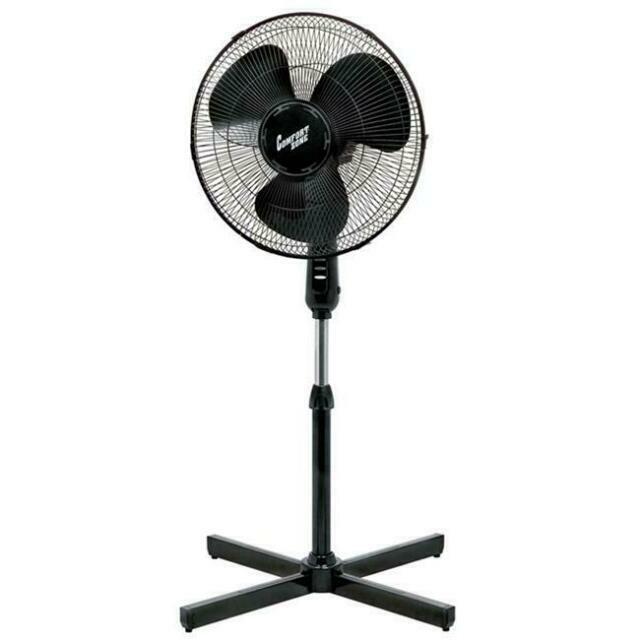 220V Adjustable Oscillating Pedestal Fan Stand Floor 3speed Remote Control