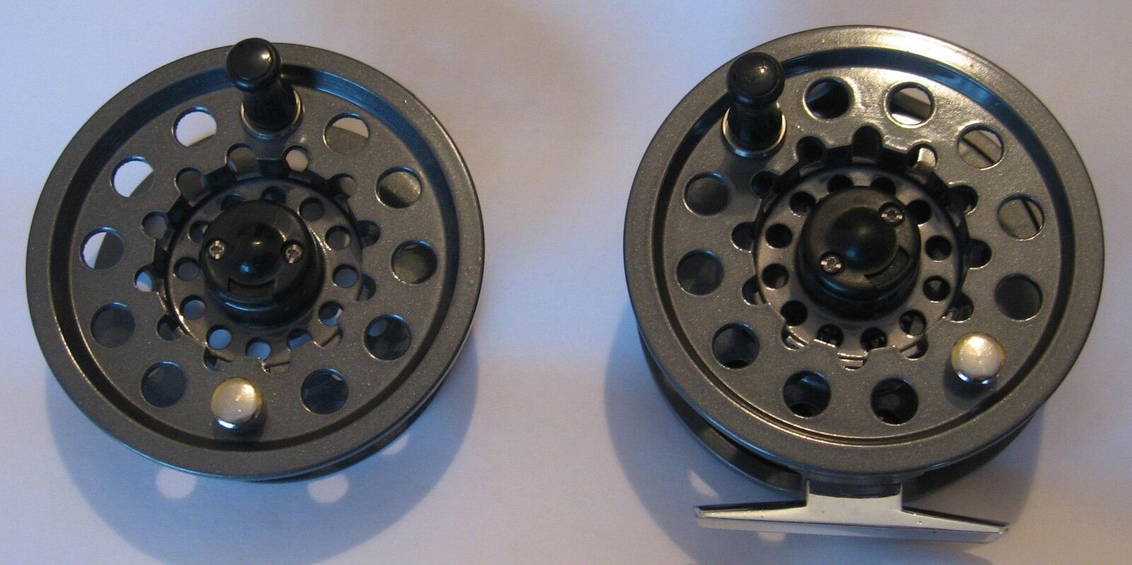 Leeda May Fly Die Cast Aluminium Large Arbor Fly Reel with spare spool   6-7