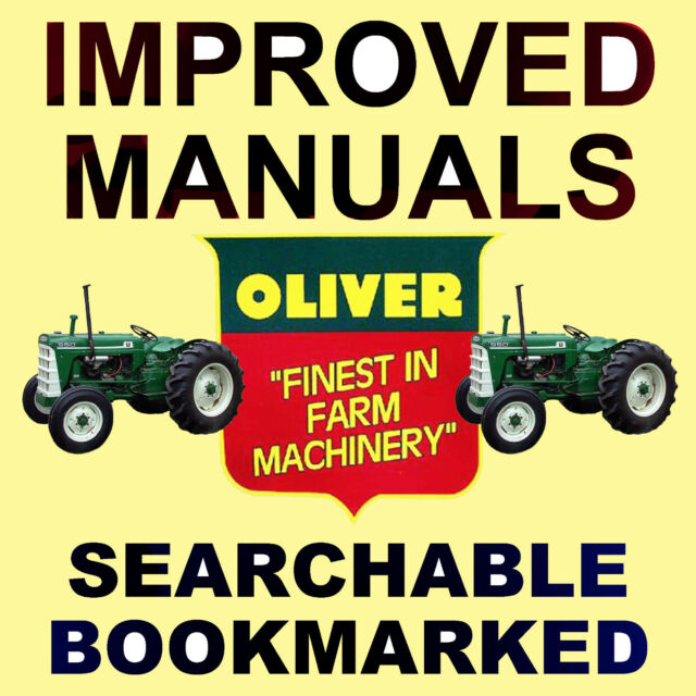 Oliver 550 Series Tractor Service Manual Parts 6 Manuals Best Searchable Dvd For Sale Online Ebay