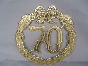 Details Zu Jubiläumszahl 70 Gold Gnadenhochzeit Hochzeit Türdeko Krepprosen Türkranz