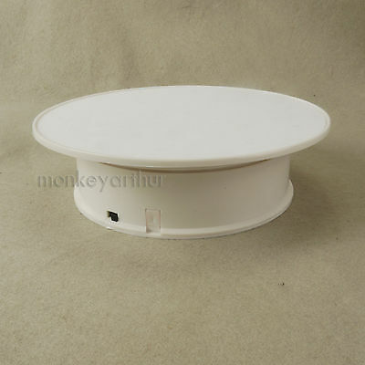 """Rotary & Reversion Display Stand 8"""" 20cm White Felt Top For Jeweller or Watch"""