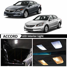 14x White Interior LED Lights Package kit for 2003-2012 Honda Accord + TOOL