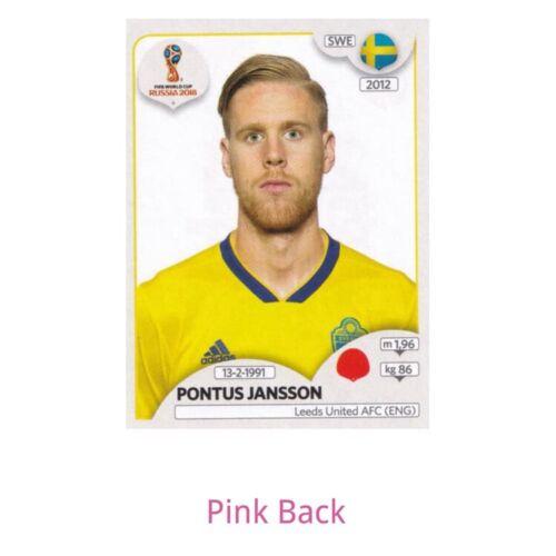 PANINI 2018 WORLD CUP Fútbol Pegatina elegir jugador 670 versión 2