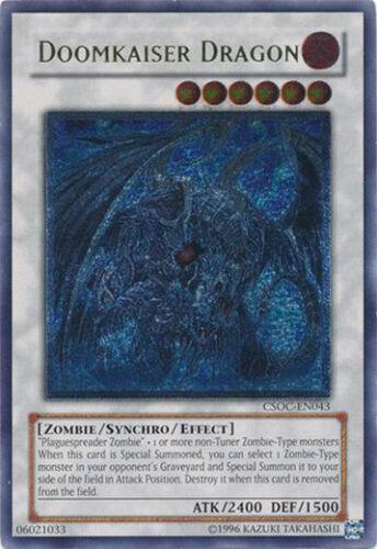 Doomkaiser Dragon Ultimate Rare Yugioh Card Unlimited Edition CSOC-EN043