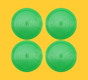 "Set of 4 Large Air Hockey Pucks - Green Round Pucks 3-1/4"" Diameter-Table Hockey"