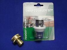 brass garden hose, faucet snap coupler/adapter set