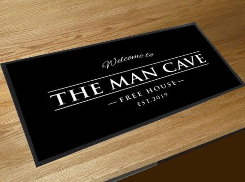 Bar runner The Man Cave black bar mat beer runner
