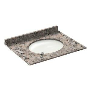 31-034-Vanity-top-with-sink-4-034-spread-Granite-Burlywood-by-LessCare-PICK-UP-ONLY