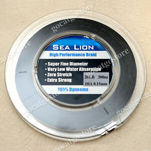 NEW Sea Lion 100% Dyneema Spectra Braid Fishing Line 300M 20lb Black