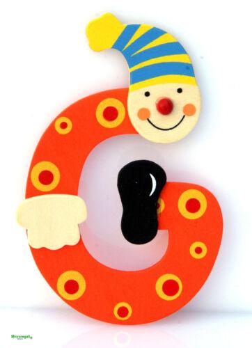 Lettera G Pagliaccio in Legno cm 10 - Per cameretta bambini. (3+)