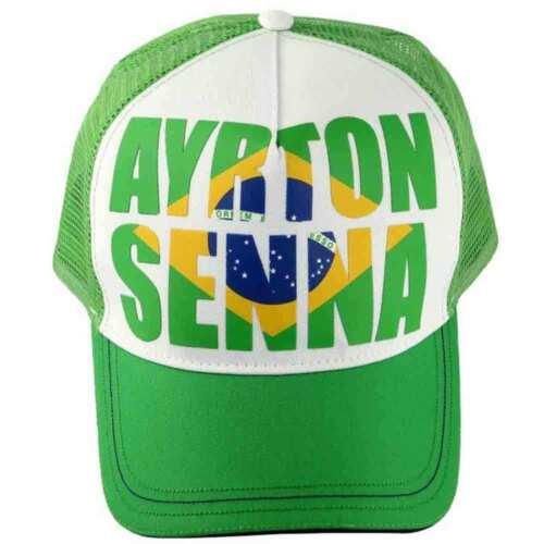 Ayrton Senna Cap Brazil White//Green