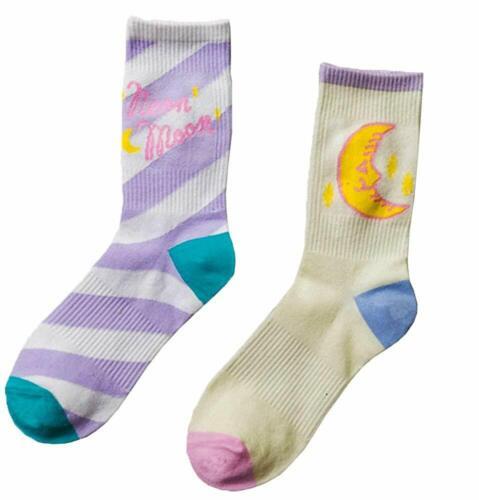 Moonsocks Women/'s Cute Casual Socks Novelty Funny Pattern Crew Socks 2 Pairs