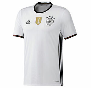 Image is loading GERMANY-2016-HOME-XL-L-ADIDAS-WHITE-BLACK- 506325610