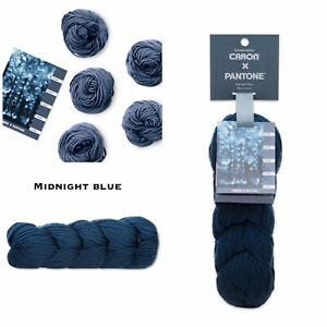 NEW-Caron-X-Pantone-Merino-Wool-Yarn-Midnight-Blue-RETIRED-SOLD-OUT-LIMITED-EDIT