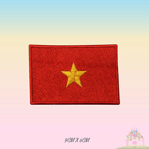 Vietnam National Flag Embroidered Iron On Patch Sew On Badge Applique