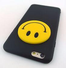 BOGO BLACK FUN 3D HAPPY FACE SILICONE RUBBER CASE COVER APPLE IPHONE 6s PLUS