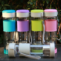 Portable Travel Sport Tea Water Seal Bottle With Filter Strainer 550ml Sm