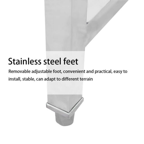 Stainless Steel Commercial Kitchen Prep Sink Kit Heavy Duty Sinks Free Standing