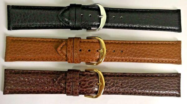 Systematisch Leder Uhrenarmbänder 22mm Echtleder Gold-schnalle 6 Löcher