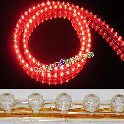 2X 48cm 48 bar LED Strip Light Car Motorcycle SMD Lamp Flexible Waterproof RED