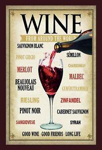 Bordeaux-de-Around-The-World-Panneau-Metallique-Plaque-Voute-Etain-Signer
