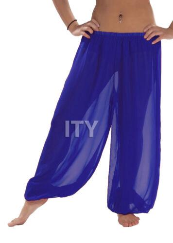 Royal Blue Harem Pants Yoga Chiffon Belly Dance Halloween Pantaloons Trousers