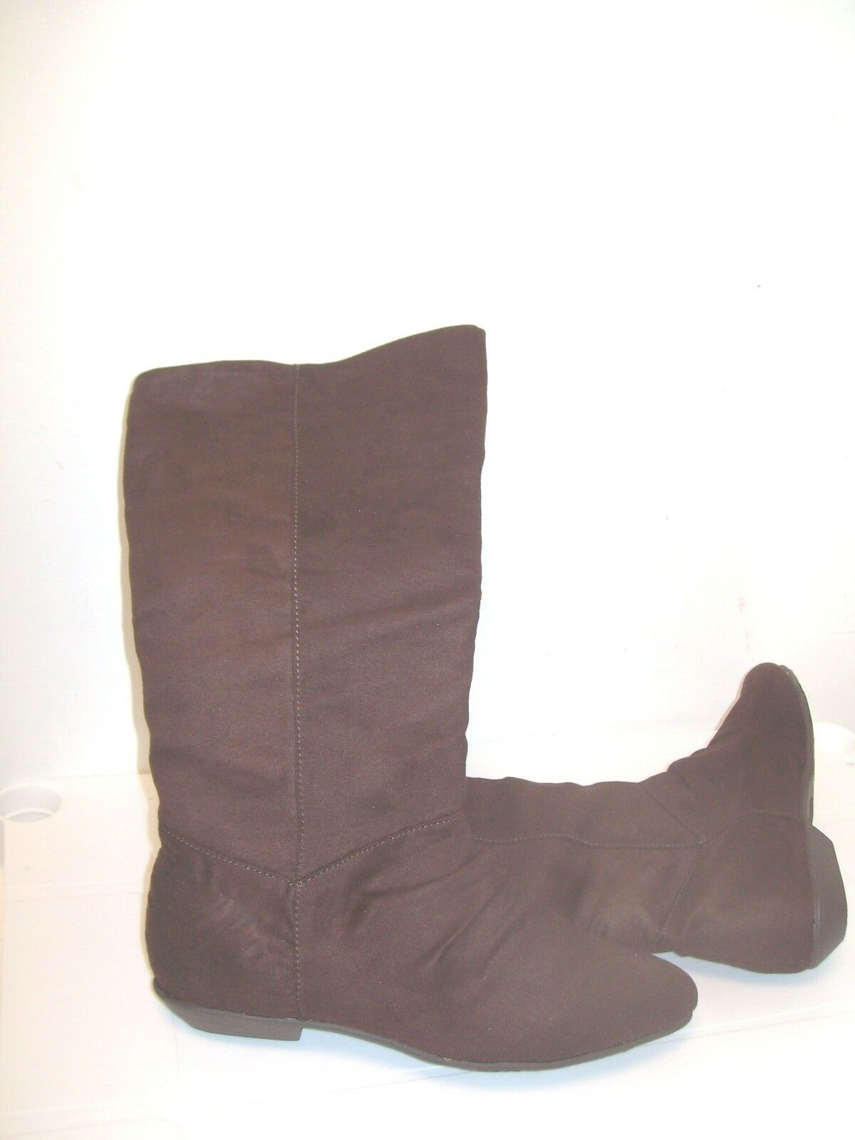 Chinese Brown Laundry Size 6  Brown Chinese Faux Suede Mid Calf Boots New Womens Shoes 413246