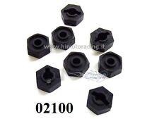 02100 TRASCINATORI  RUOTE 12mm  X MODELLI 1/10 SIX ANGLE NUTS MOUNT *8p,HIMOTO