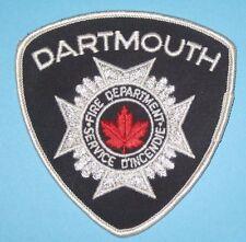 "Dartmouth Fire Dept Patch - Service d'Incendie - Canada - 4"" x 4 1/8"""