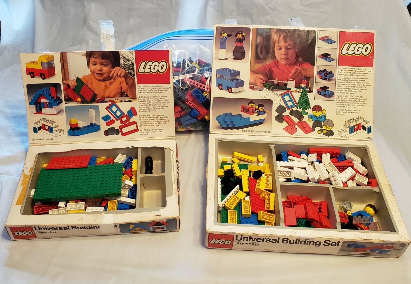 Vintage Lego - Sets 110 (complete) and 112 (incomplete) plus 2 lbs loose pieces